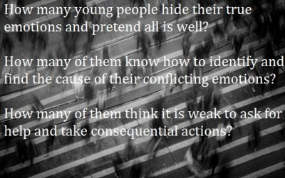 Young adults, stop hiding behind emotional masks.