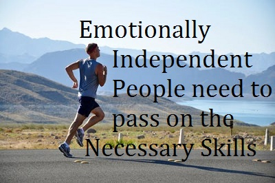 Emotionally Independent People Assisting